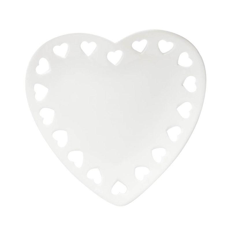 Travessa Coração Branco 18x17 - Lyor