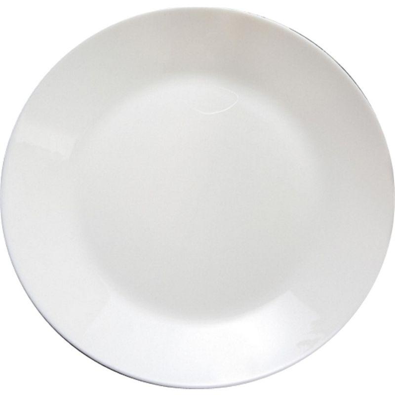 Prato Raso 25cm Branco Arcoroc