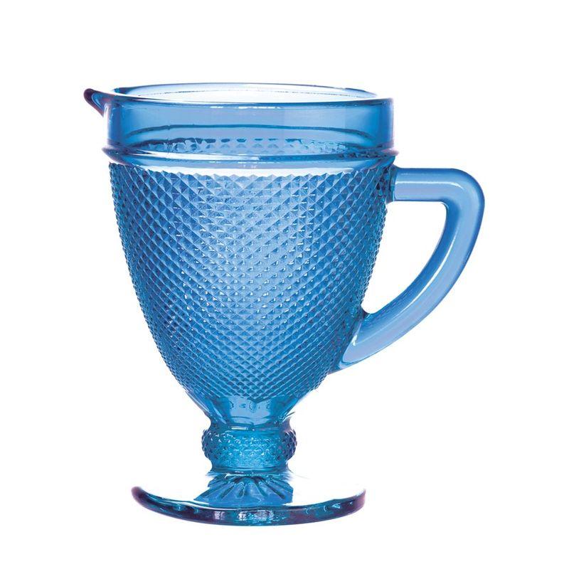 Jarra Vidro 1 Litro Bico Jaca Azul - Rojemac