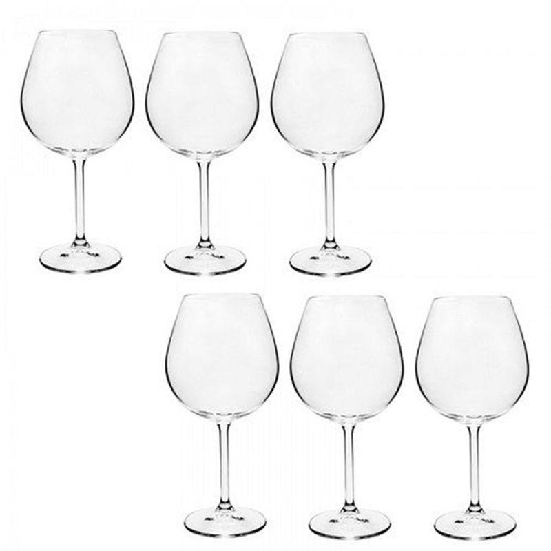 Jogo Taças Vinho Bordeaux 6 Peças 650 Ml - Bohemia