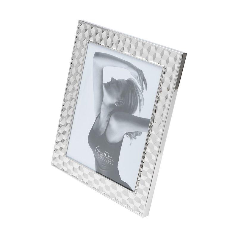Porta Retrato De Aço Prateado 20x25Cm - Rojemac