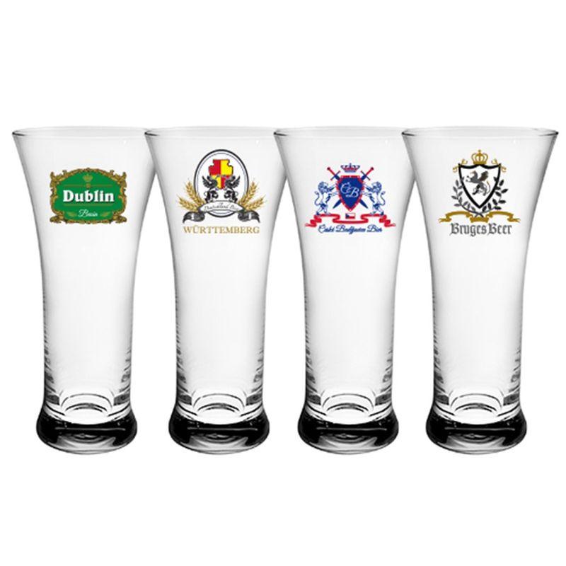 Jogo Copos Cerveja 4 Peças Frank Logos - Full Fit